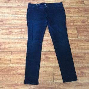 NWOT Ann Taylor Loft Denim Blue Leggings